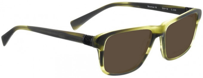 Bellinger BOUNCE-18-336 Sunglasses in Matt Green Tortoiseshell