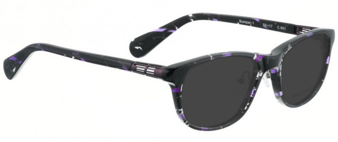 Bellinger BUMPER-1-961 Sunglasses in Black/Purple Pattern