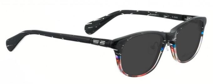 Bellinger BUMPER-1-945 Sunglasses in Black/Multi Color Pattern