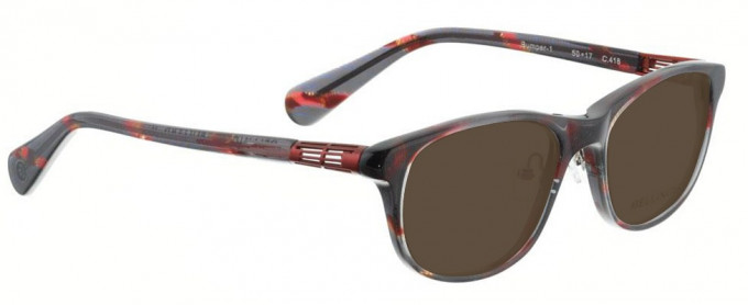 Bellinger BUMPER-1-418 Sunglasses in Black/Red Pattern