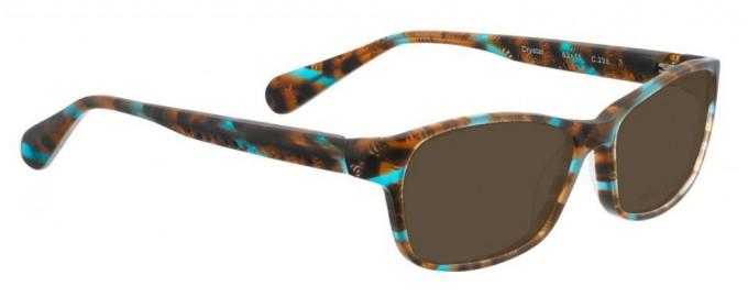 Bellinger CRYSTAL-238 Sunglasses in Brown/Blue Pattern