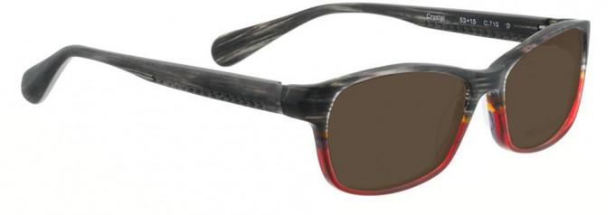 Bellinger CRYSTAL-710 Sunglasses in Black Matt/Matt Red