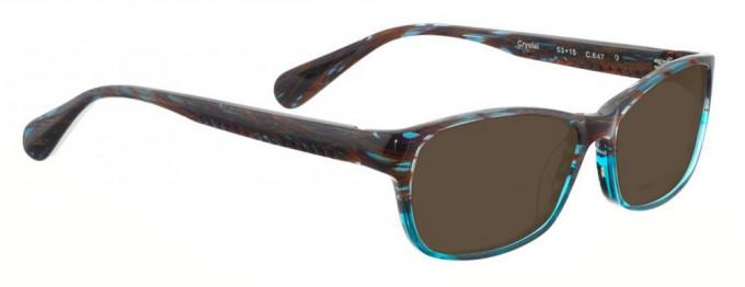 Bellinger CRYSTAL-647 Sunglasses in Purple/Blue Pattern