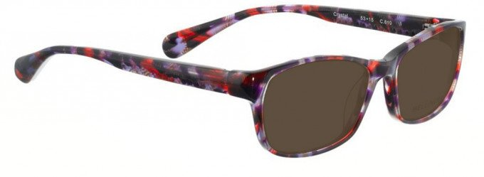 Bellinger CRYSTAL-610 Sunglasses in Purple/Red Pattern