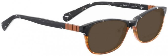 Bellinger DALLAS-1-954 Sunglasses in White/Pink