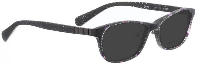 Bellinger DALLAS-1-767 Sunglasses in Matt Grey/Purple Pattern