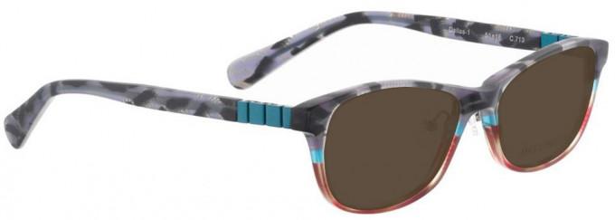 Bellinger DALLAS-1-713 Sunglasses in Matt Grey/Red Pattern