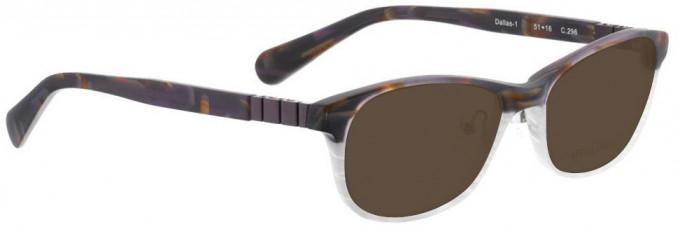 Bellinger DALLAS-1-296 Sunglasses in Matt Brown Pattern/White