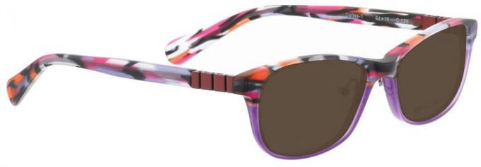 Bellinger DALLAS-1-126 Sunglasses in Red Pattern/Purple