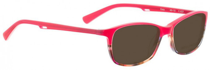 Bellinger EASY-627 Sunglasses in Pink/Brown Pattern