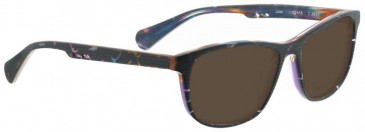 Bellinger JOAN-967 Sunglasses in Matt Black Glitter