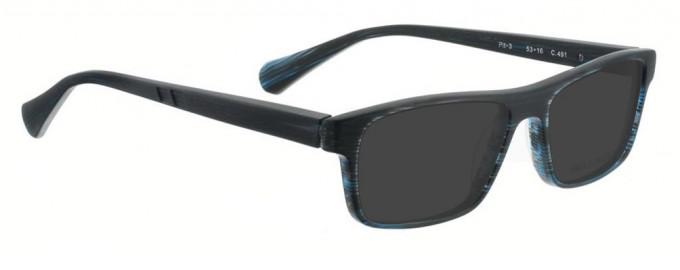 Bellinger PIT-3-491 Sunglasses in Matt Dark Blue Pattern