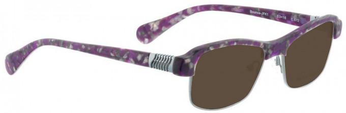 Bellinger BOUNCE-JFK-1-672 Sunglasses in Matt Purple Pattern