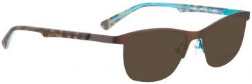 Bellinger ERMIS-2849 Sunglasses in Brown/Turquoise