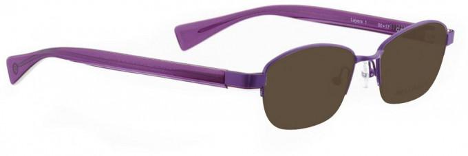 Bellinger LAYERS-1-62 Sunglasses in Purple Pearl