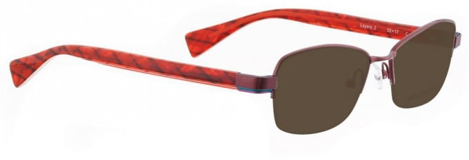Bellinger LAYERS-2-10 Sunglasses in Red Pearl
