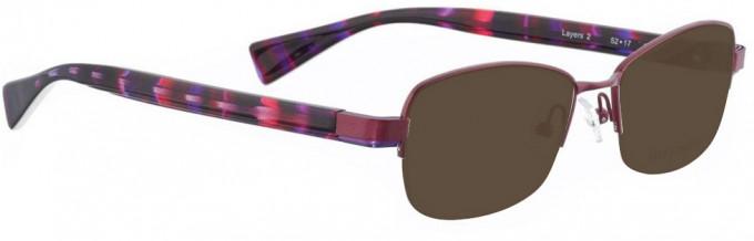 Bellinger LAYERS-2-68 Sunglasses in Aubergine Pearl