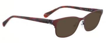 Bellinger RIBS-1-9068 Sunglasses in Matt Black/Purple