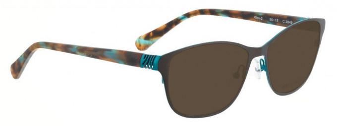 Bellinger RIBS-2-2849 Sunglasses in Matt Brown/Blue