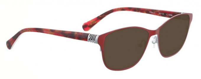 Bellinger RIBS-2-1098 Sunglasses in Shiny Bright Red/Silver