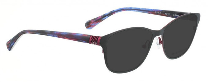 Bellinger RIBS-2-7969 Sunglasses in Matt Dark Grey/Aubergine