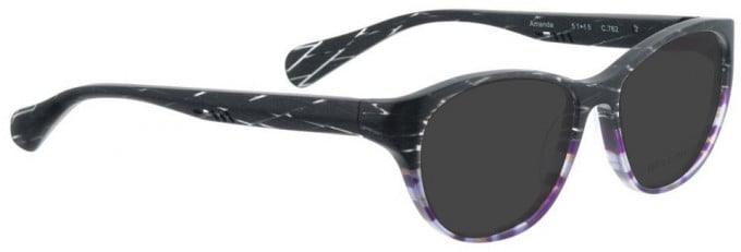 Bellinger AMANDA-762 Sunglasses in Grey/Purple Pattern