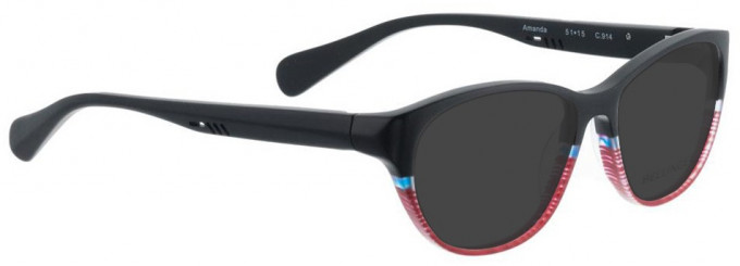 Bellinger AMANDA-914 Sunglasses in Black/Red Pattern
