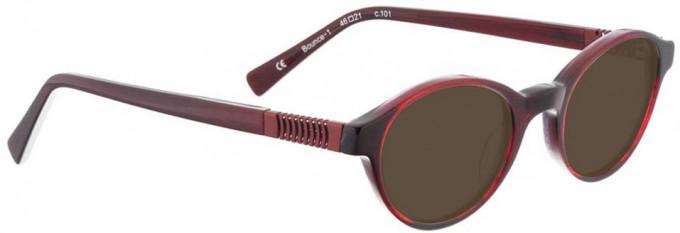 Bellinger BOUNCE-1-101 Sunglasses in Red/Black Pattern