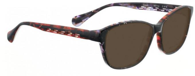 Bellinger GREEK-916 Sunglasses in Black/Red Purple