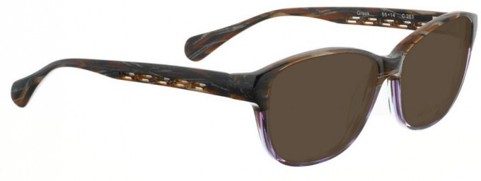 Bellinger GREEK-263 Sunglasses in Brown/Purple Pattern