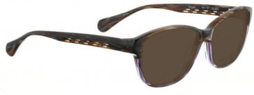 Bellinger GREEK-263 Sunglasses in Brown/Purple Pattern
