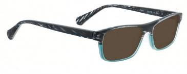 Bellinger PIT-3-255 Sunglasses in Black/Blue Pattern
