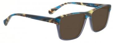 Bellinger PIT-4-402 Sunglasses in Matt Blue/Brown Pattern