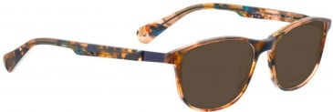 Bellinger ZIRCON-245 Sunglasses in Brown/Blue Pattern