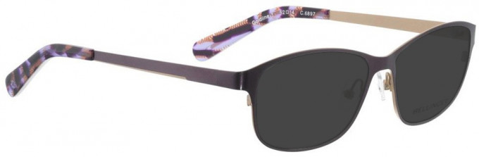 Bellinger GOLDLINE-1-6897 Sunglasses in Dark Purple/Matt Gold