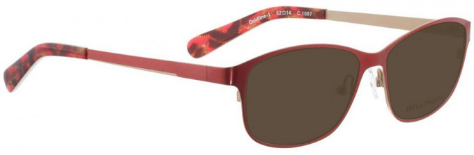 Bellinger GOLDLINE-1-1097 Sunglasses in Bright Red/Matt Gold