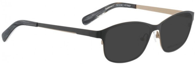 Bellinger GOLDLINE-1-7997 Sunglasses in Dark Matt Grey/Matt Gold