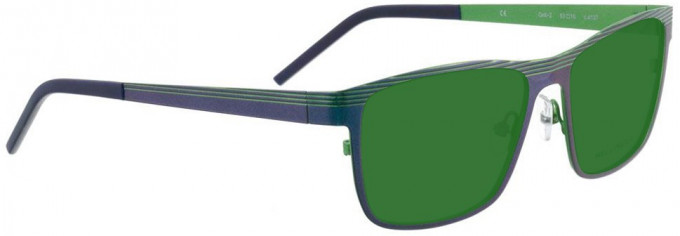 Bellinger GRILL-2-4137 Sunglasses in Metallic Blue