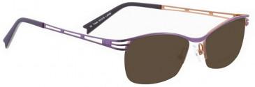 Bellinger TRIPLE-6056 Sunglasses in Purple Pearl