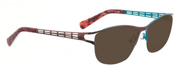 Bellinger TRUSS-1549 Sunglasses in Dark Red/Blue