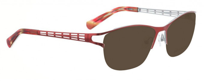 Bellinger TRUSS-1098 Sunglasses in Bright Red/White