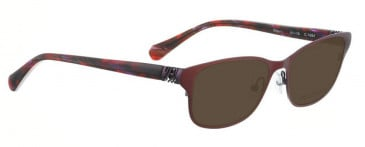 Bellinger RIBS-1-9068 Sunglasses in Matt Black/Purple