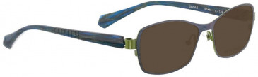 Bellinger SPIRAL-5-4139 Sunglasses in Blue Metallic