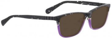 Bellinger DALLAS-2-965 Sunglasses in Matt Black Glitter/Purple