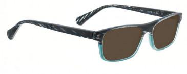Bellinger PIT-3-255 Sunglasses in Black/Blue Pattern