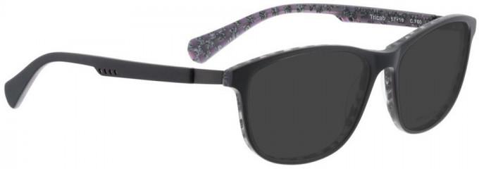 Bellinger TRICAB-760 Sunglasses in Matt Grey/Purple Pattern