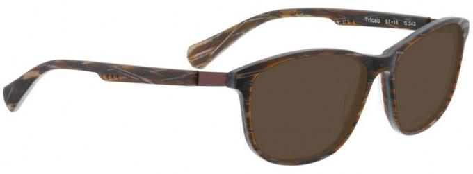 Bellinger TRICAB-242 Sunglasses in Matt Brown/Blue Pattern