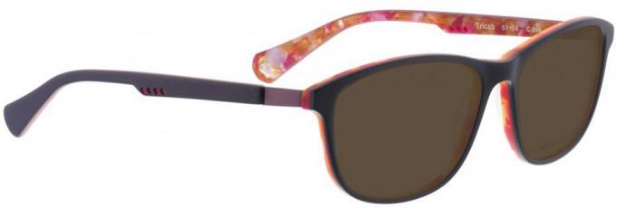 Bellinger TRICAB-656 Sunglasses in Matt Purple/Orange