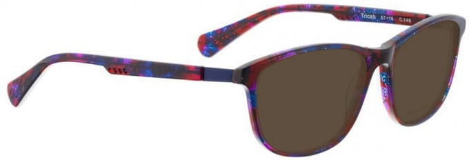 Bellinger TRICAB-146 Sunglasses in Red/Blue/Purple Pattern