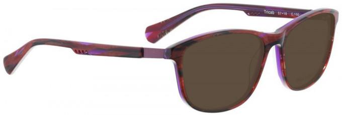 Bellinger TRICAB-160 Sunglasses in Red/Purple Pattern